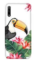 CaseGadget CASE OVERPRINT TOUCAN AND LEAVES HUAWEI HONOR 9X