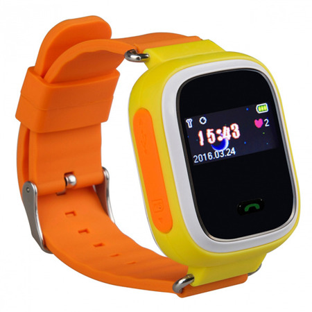 SMART WATCH FOR CHILDREN GPS FOR PARENTS Q60 YELLOW