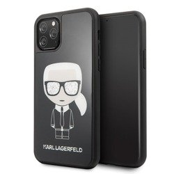 KARL LAGERFELD HARD CASE ICONIC FULL BODY KLHCN61DLFKBK IPHONE 11 CZARNY
